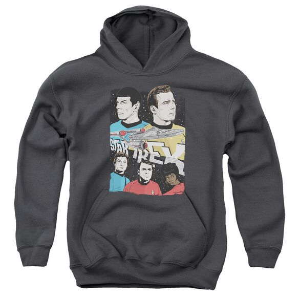 Star Trek Illustrated Crew Youth Pull Over Hoodie