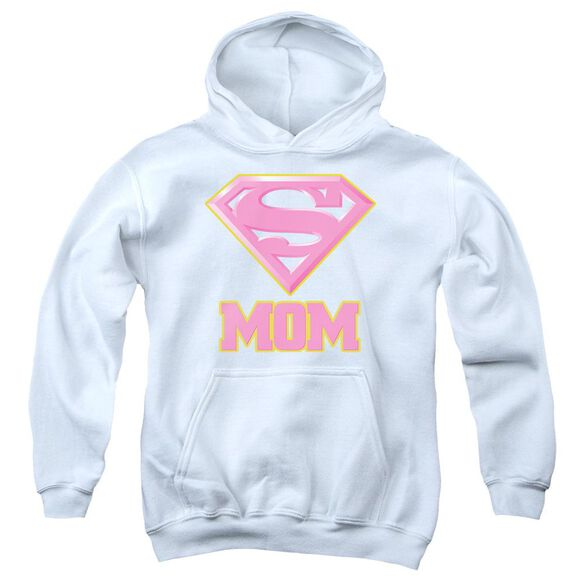 Superman Super Mom Pink Youth Pull Over Hoodie