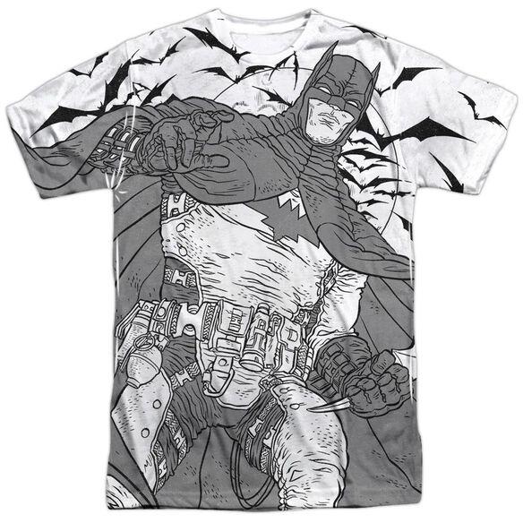 Batman Liney Sub Short Sleeve Adult Poly Crew T-Shirt