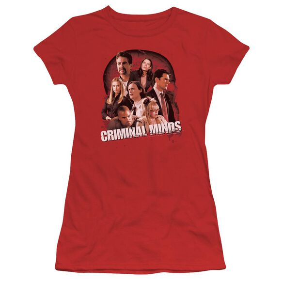 Criminal Minds Brain Trust Short Sleeve Junior Sheer T-Shirt
