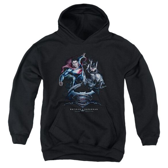 Batman V Superman Team Up Youth Pull Over Hoodie