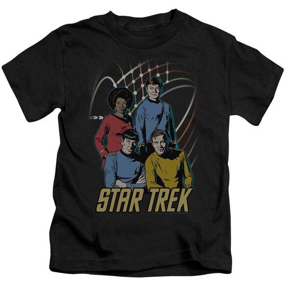 Star Trek Warp Factor 4 Short Sleeve Juvenile Black T-Shirt