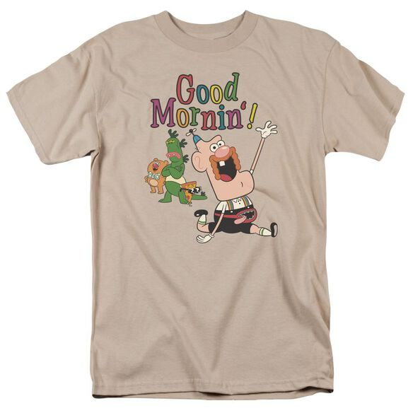 Uncle Grandpa Good Mornin Short Sleeve Adult Sand T-Shirt
