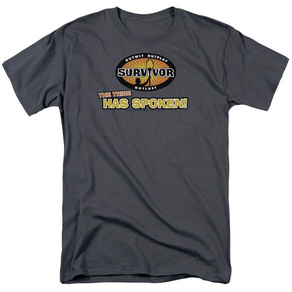 SURVIVOR TRIBE HAS SPOKEN - S/S ADULT 18/1 - CHARCOAL T-Shirt