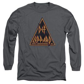 Def Leppard Distressed Logo Long Sleeve Adult T-Shirt