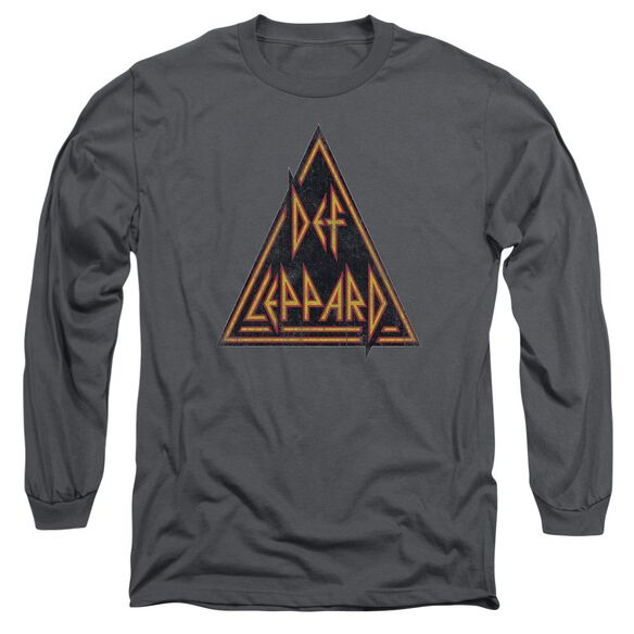 Def Leppard Distressed Logo Long Sleeve Adult T-Shirt
