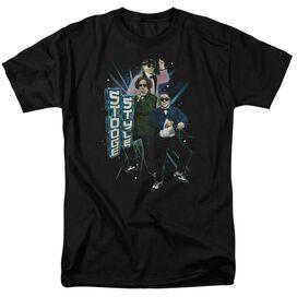 THREE STOOGE TOOGE STYLE - S/S ADULT 18/1 - BLACK T-Shirt