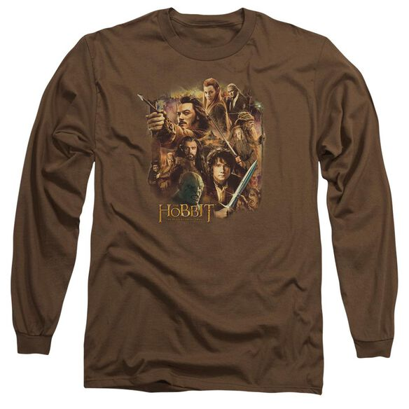Hobbit Middle Earth Group Long Sleeve Adult T-Shirt