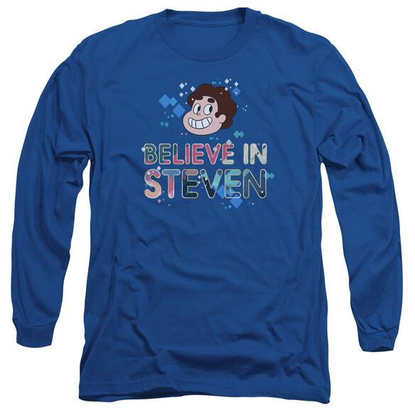 Steven Universe Believe Long Sleeve Adult Royal T-Shirt