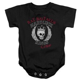 Hardluck Kings Rat Bastards Logo Infant Snapsuit Black