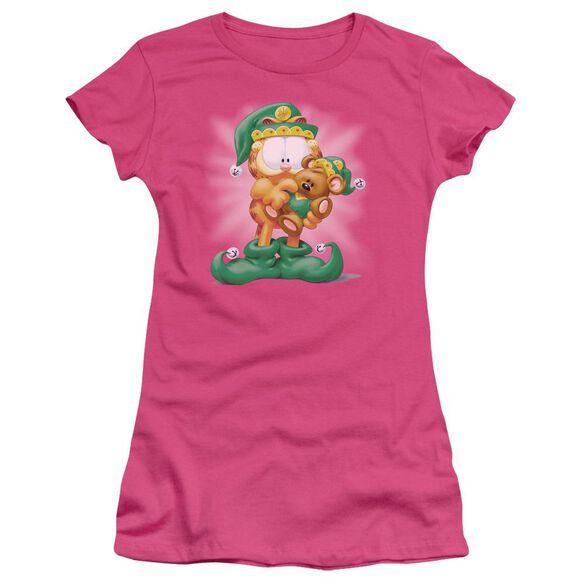 Garfield Number 1 Elf Short Sleeve Junior Sheer Hot T-Shirt