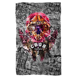 Cbgb Flying Skull Fleece Blanket