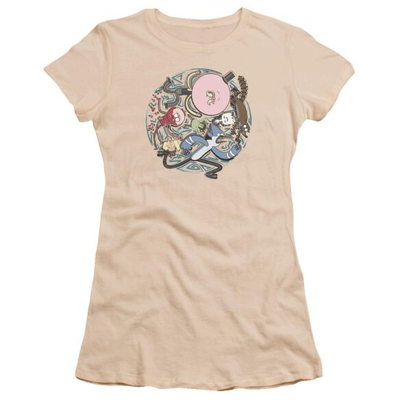 Regular Show Strange Circle Hbo Short Sleeve Junior Sheer T-Shirt