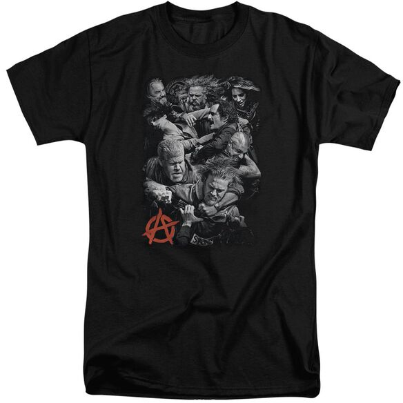 Sons Of Anarchy Group Fight Short Sleeve Adult Tall T-Shirt