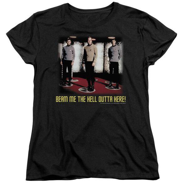 Star Trek Beam Me Out Short Sleeve Womens Tee T-Shirt