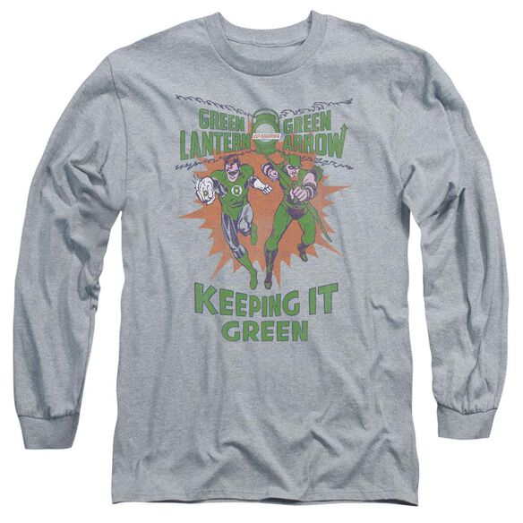 Green Lantern Keeping It Green Long Sleeve Adult Athletic T-Shirt