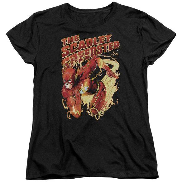 Jla Scarlet Speedster Short Sleeve Womens Tee T-Shirt