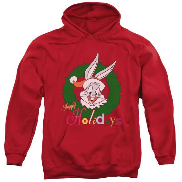 Looney Tunes Holiday Bunny Adult Pull Over Hoodie