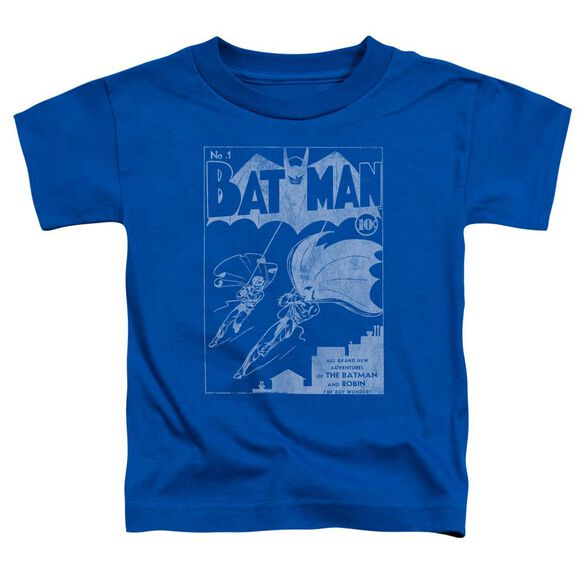 Batman Issue 1 Cover Short Sleeve Toddler Tee Royal Blue Sm T-Shirt