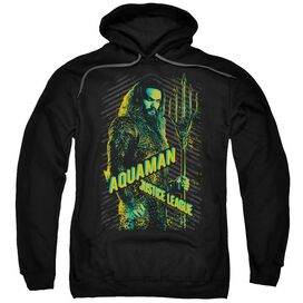 Justice League Movie Aquaman Adult Pull Over Hoodie