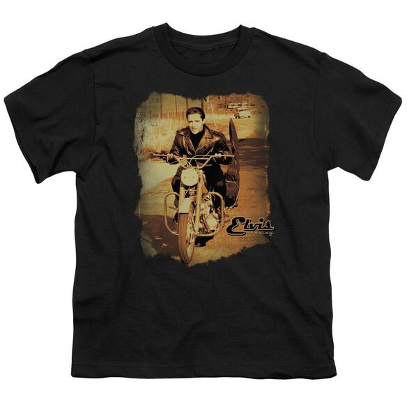 Elvis Hit The Road Short Sleeve Youth T-Shirt