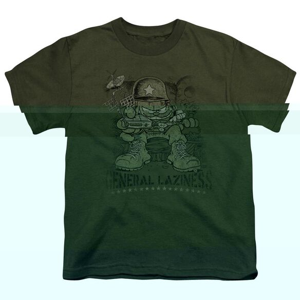 GARFIELD GENERAL LAZINESS - S/S YOUTH 18/1 - MILITARY GREEN T-Shirt