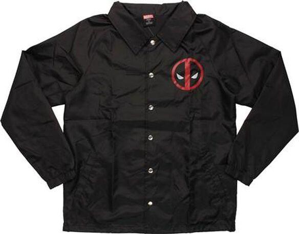 Deadpool Logo Coach Snap Jacket