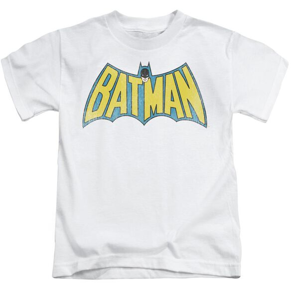 Dc Classic Batman Logo Short Sleeve Juvenile White T-Shirt