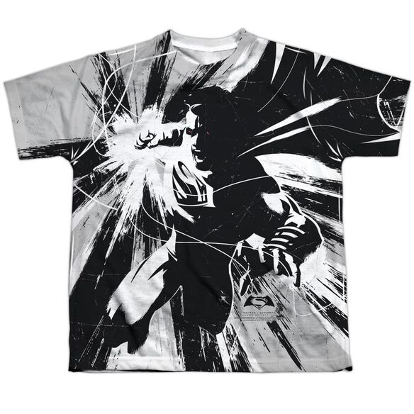Batman V Superman Graphic Contrast Short Sleeve Youth Poly Crew T-Shirt