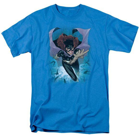Jla Batgirl #1 Short Sleeve Adult Turquoise T-Shirt