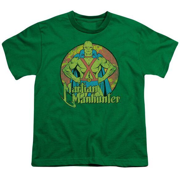 Dc Martian Manhunter Short Sleeve Youth Kelly T-Shirt