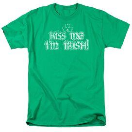 Kiss Me Im Irish Short Sleeve Adult Kelly T-Shirt