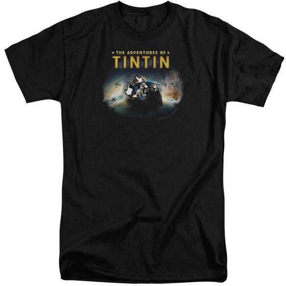 Tintin Journey Short Sleeve Adult Tall T-Shirt