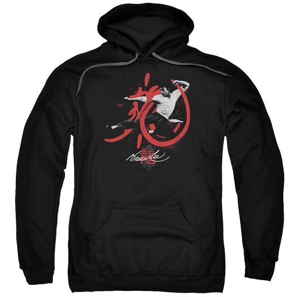 Bruce Lee High Flying Adult Pull Over Hoodie