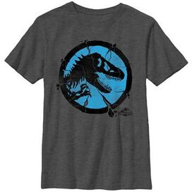 Jurassic World Cracked Logo Youth T-Shirt