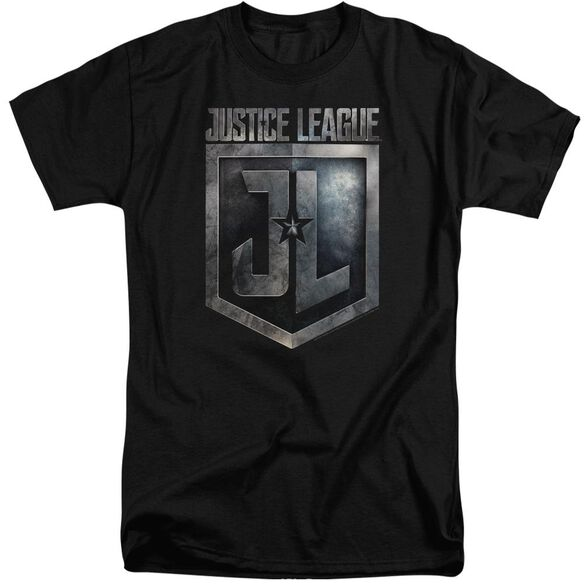 Justice League Movie Shield Logo Short Sleeve Adult Tall T-Shirt