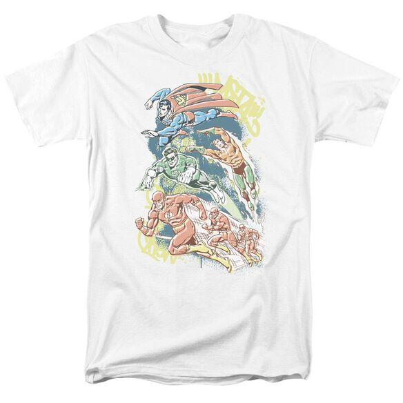 Dc Halftone League Short Sleeve Adult White T-Shirt