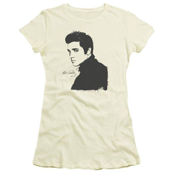 ELVIS PRESLEY BLACK PAINT - S/S JUNIOR SHEER - CREAM T-Shirt