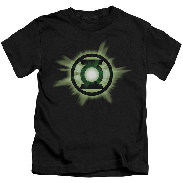 Green Lantern Green Glow Short Sleeve Juvenile Black T-Shirt