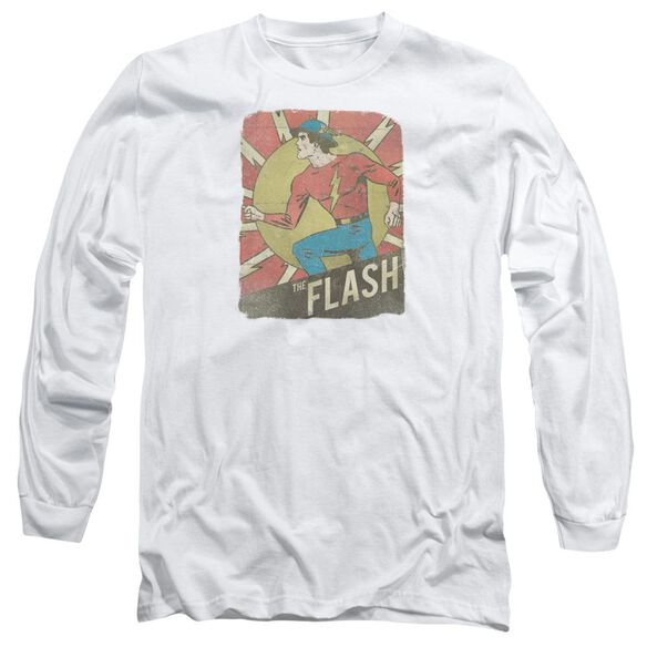 Dc Flash Tattered Poster Long Sleeve Adult T-Shirt