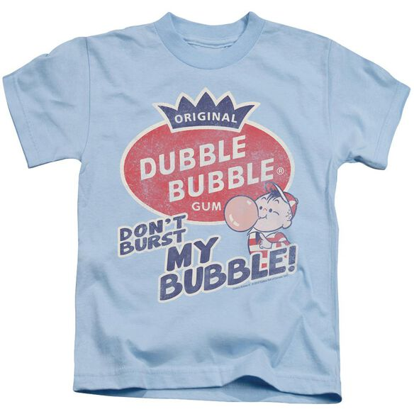 Dubble Bubble Burst Bubble Short Sleeve Juvenile Light Blue T-Shirt