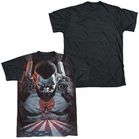 Bloodshot World On Fire Short Sleeve Adult Front Black Back T-Shirt