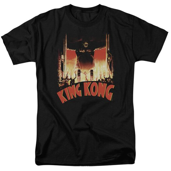 King Kong At The Gates Short Sleeve Adult T-Shirt