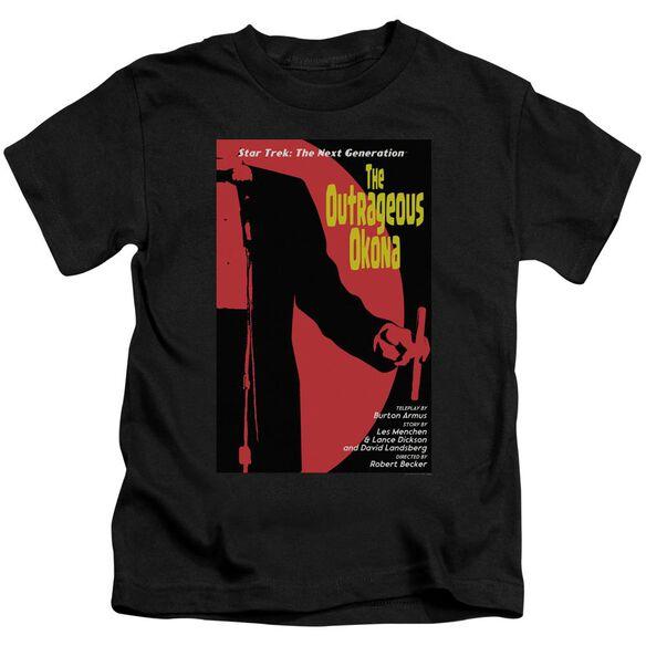 Star Trek Tng Season 2 Episode 4 Short Sleeve Juvenile Black T-Shirt