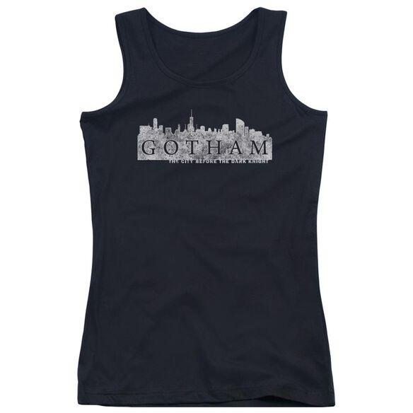 Gotham Skyline Logo Juniors Tank Top
