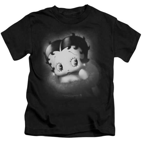 Betty Boop Vintage Star Short Sleeve Juvenile Black T-Shirt