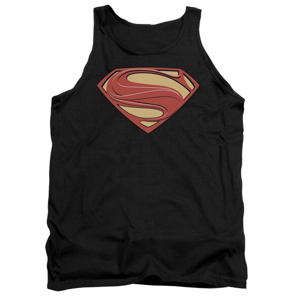 Man Of Steel New Solid Shield Adult Tank