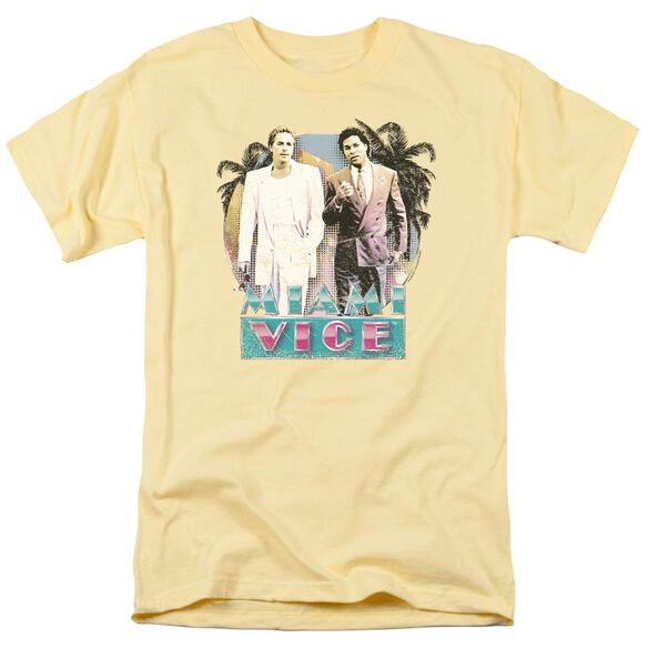 Miami Vice 80 S Love Short Sleeve Adult Banana T-Shirt