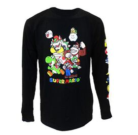 Nintendo Super Mario Caricatures Long Sleeve T-Shirt