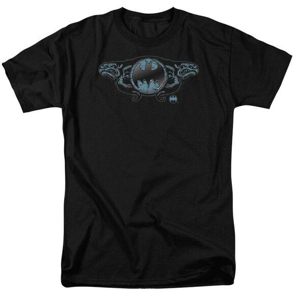Batman Two Gargoyles Logo Short Sleeve Adult T-Shirt
